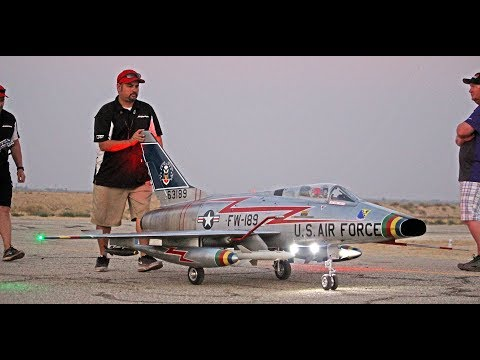 Giant RC F-100 Super Sabre (CARF) Dusk Flight - Best in the West Jet Rally 2017
