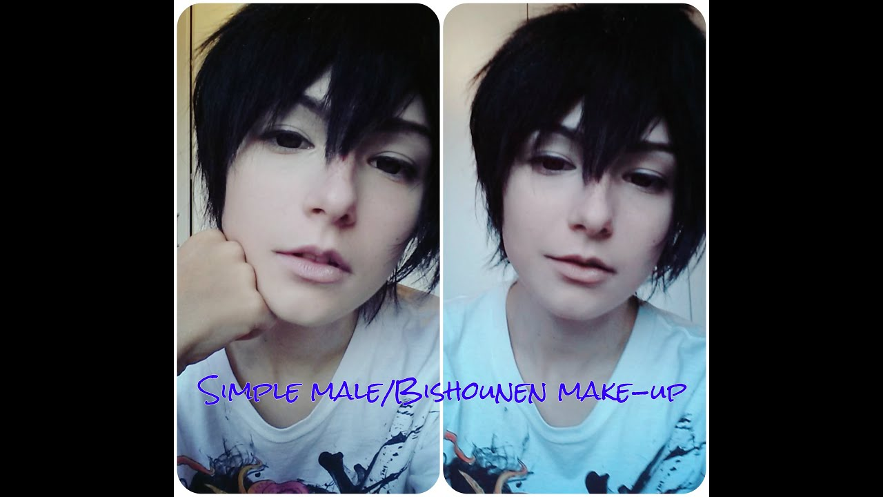 Simple Male Bishōnen Cosplay Make Up Tutorial Youtube