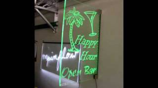 Edge Lit Led Sign