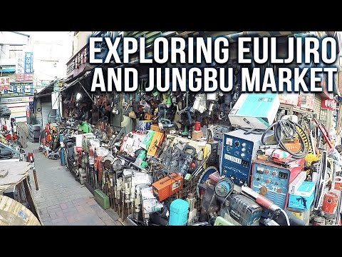 Exploring Euljiro and Jungbu Market - SEOUL WALK 🇰🇷