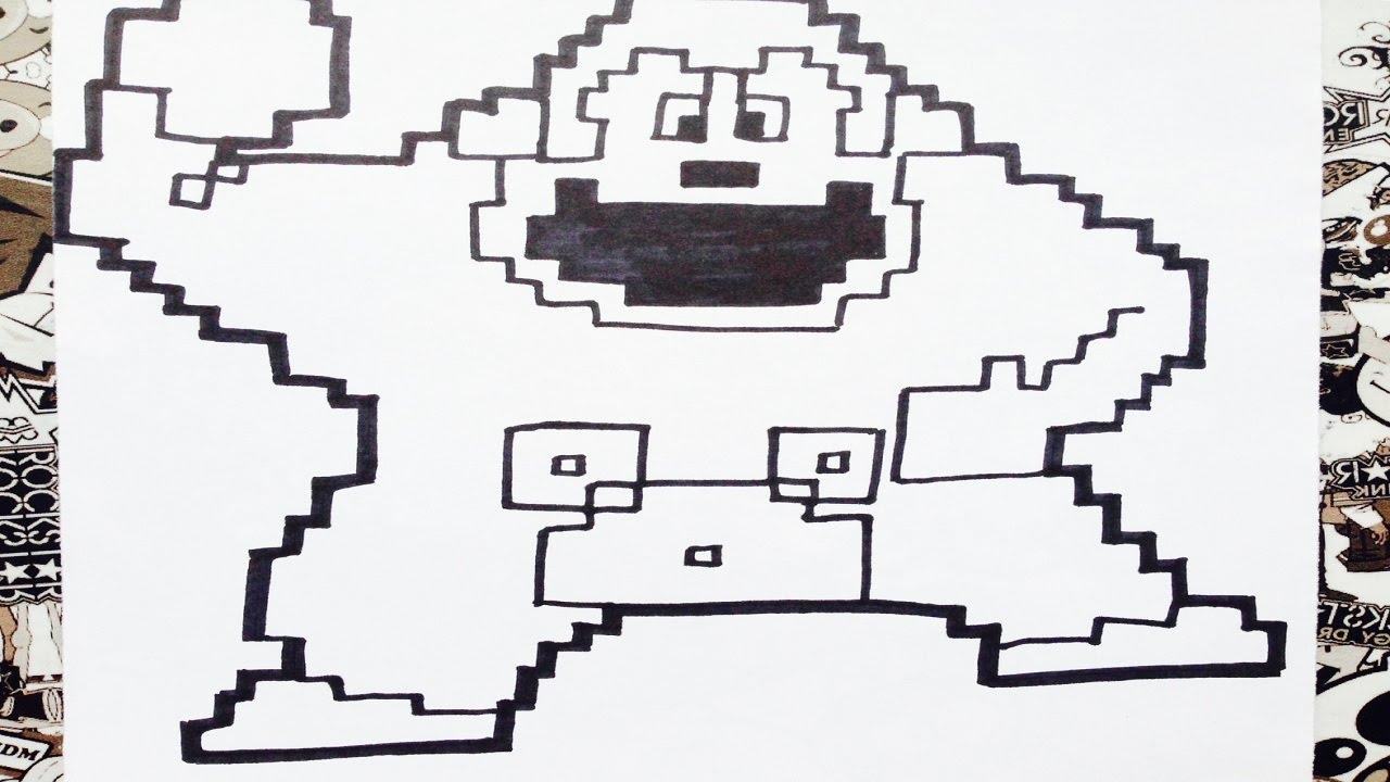 Como Dibujar A Donkey Kong Pixelado