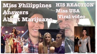 AMERICAN  REACTIONS ABOUT MISS UNIVERSE Miss USA Viral video | Catriona answers |Miss Vietnam