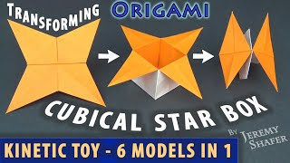 Transforming Cubical Star Box - Kinetic Toy - 6 models in 1!