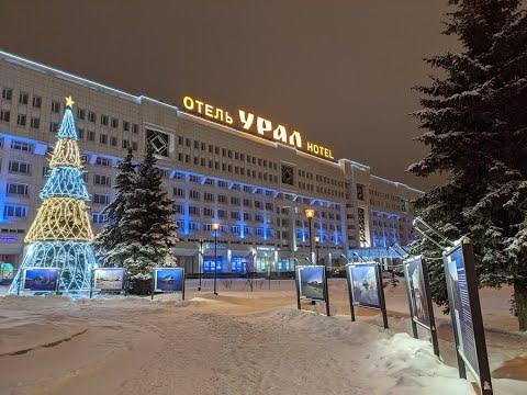 Новый год-2020 в центре Перми. Салют.