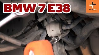 How to change front stabilizer bushes BMW 7 E38 TUTORIAL | AUTODOC