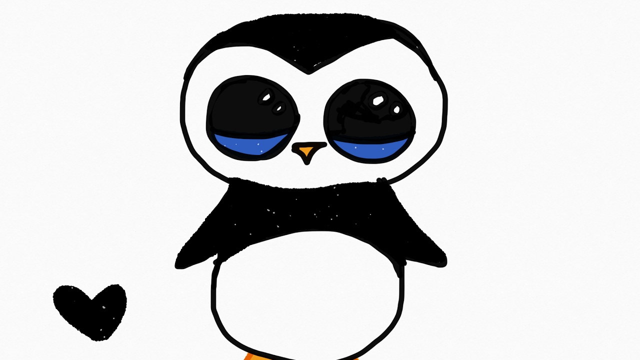 tutorial drawing a cute penguin how to draw a cute