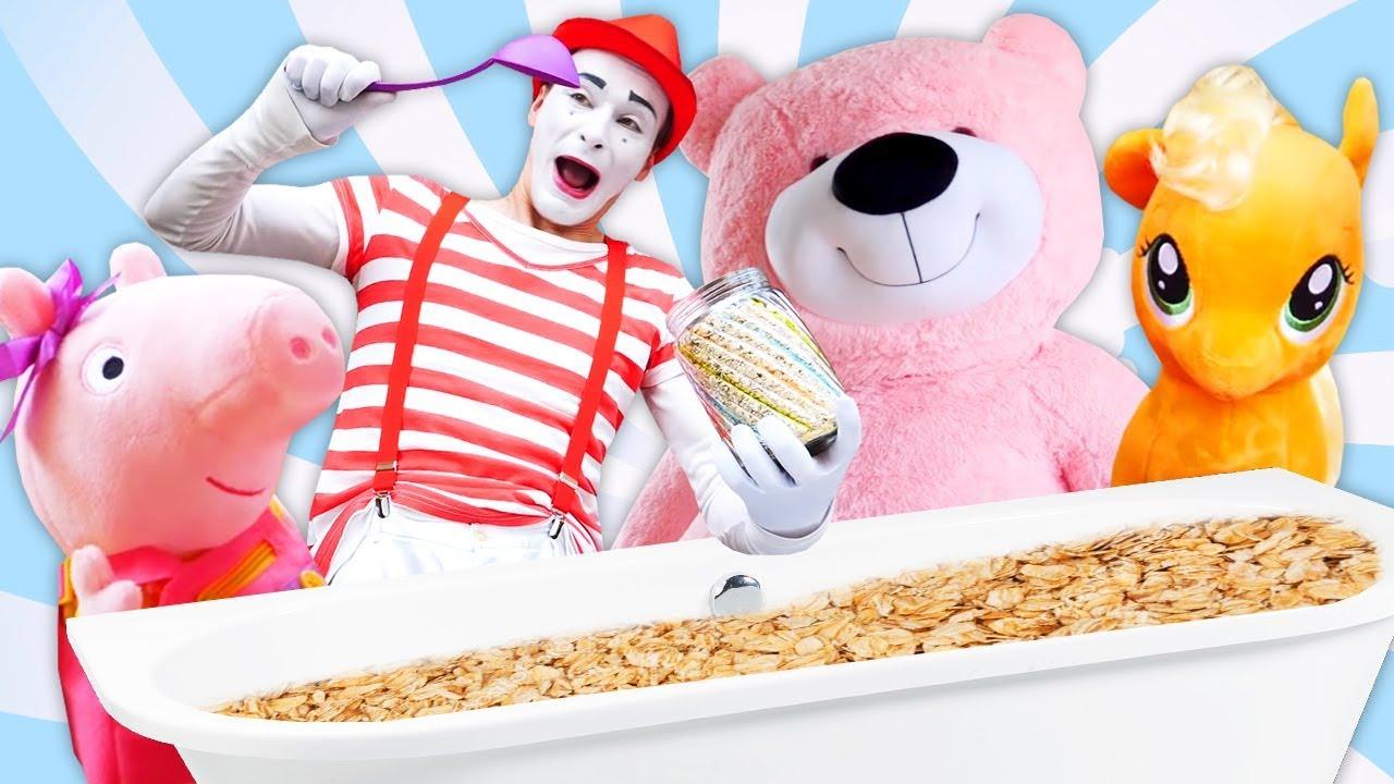 Веселое видео для малышей с игрушками из мультфильмов с ...