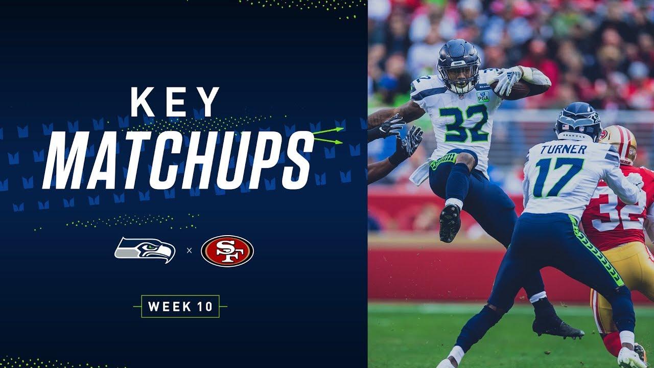 2019 Week 10: Seahawks at 49ers Key Matchups
