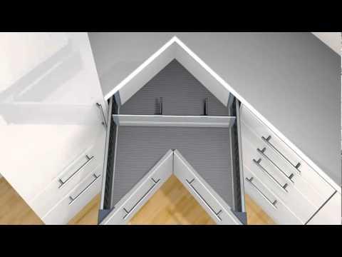Orga line organizador para esquinero de blum video for Mueble alto de cocina esquinero
