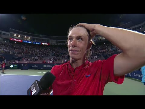"Elated Shapovalov ""can't even talk"" after huge win over Nadal"