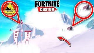 Fortnite AVALANCHE ESCAPE slide.. Can you DODGE what's FALLING?! (Fortnite Creative Mode)