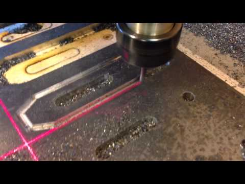DIY CNC router cutting steel