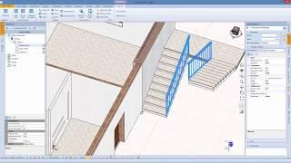 Edificio 3: Scale, ringhiere, facciate continue e funzioni di duplicazione con Blumatica BIM ArchIT (it)