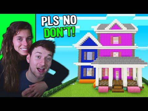 i built a $1,000,000 HOUSE! BOY vs GIRL Minecraft HOUSE BUILD BATTLE!