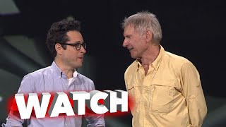 Star Wars: The Force Awakens: D23 Presentation  With J.J. Abrams, Harrison Ford