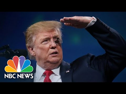 Object Thrown At Stage While President Donald Trump Is Speaking | NBC News