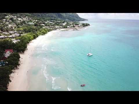 Amazing Beau Vallon Beach Seychelles video with DJI Mavic Pro drone