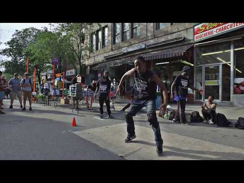 Montreal Street Dancer at Mural Festival 2017 filmed a with DJI Osmo