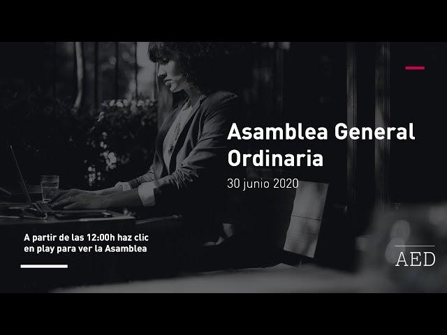 AED I Live  Asamblea General Ordinaria 2020