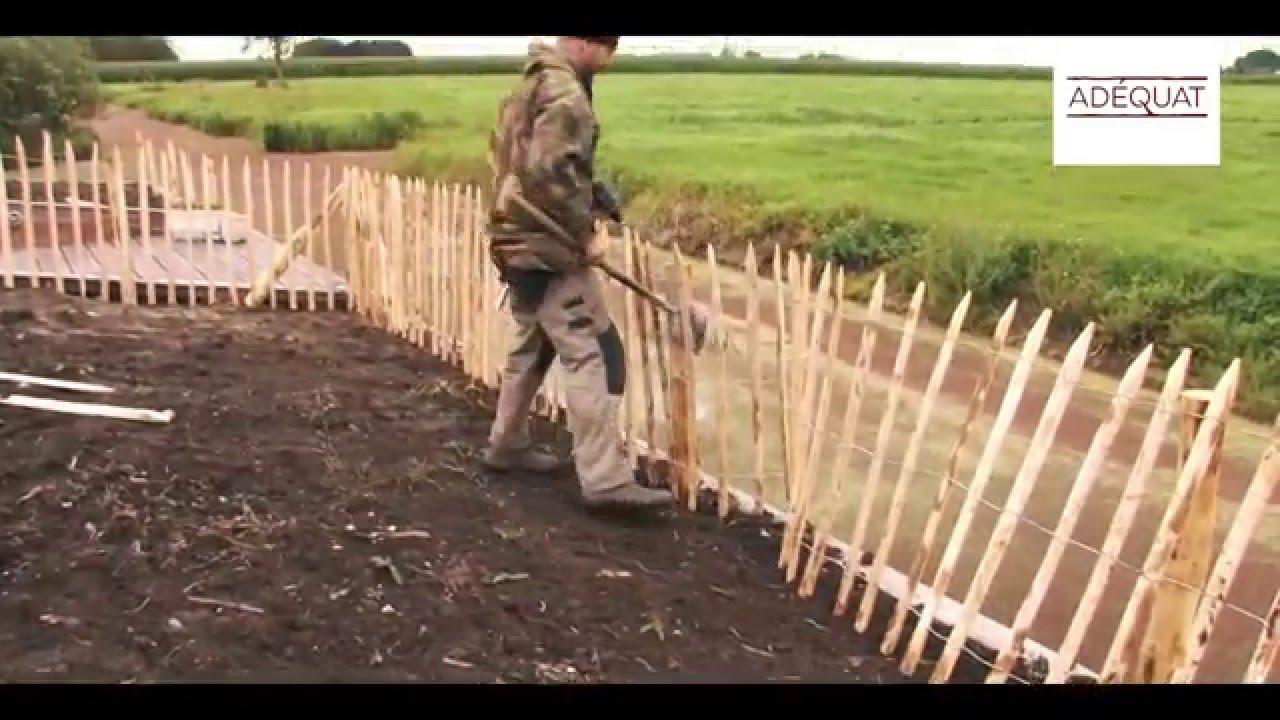 französischen staketenzaun aufbauen - staketenzäune aufstellen - youtube