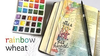 Bible Journaling Matthew 13: Rainbow Wheat
