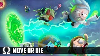 RICK & MORTY'S MINIGAME RAGE CHAMBER! | Move or Die Funny #4 Moments Rick & Morty Edition
