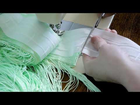 Как пришить шторную ленту на нитяные шторы (быстро за 10 минут)