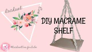 DIY Macrame Shelf