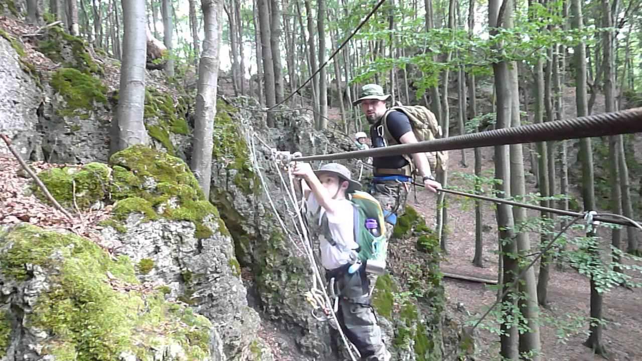 Klettersteig Höhenglücksteig : Klettersteig u herrseitz