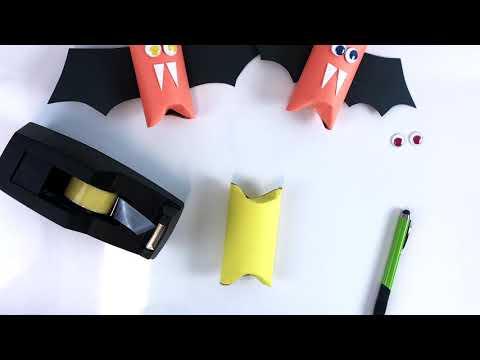 Money Saving Hacks for Halloween: Paper Tube Bats