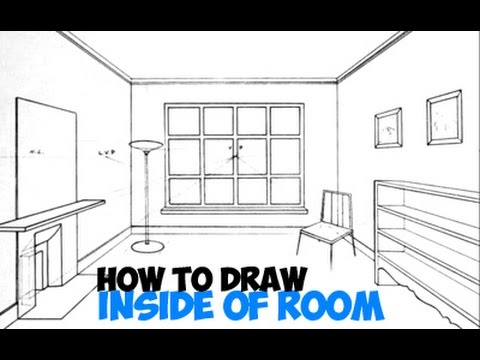 How To Draw In 3 Point Perspective Inside Of A Room