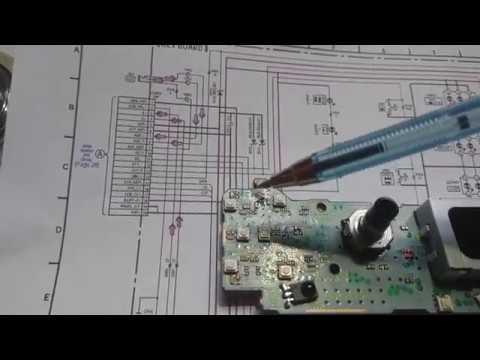 Ремонт панельки автомагнитолы SONY CDX GT40U
