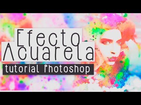 EFECTO ACUARELA 🖌 EN FOTOGRAFIAS BN & DE COLOR || TUTORIAL PHOTOSHOP 🖤