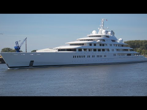 Azzam Sea Trial - longest Yacht in the World
