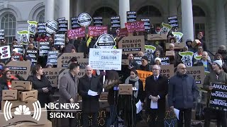 Who's Rallying Against Amazon's New HQ2? | NBC News Signal