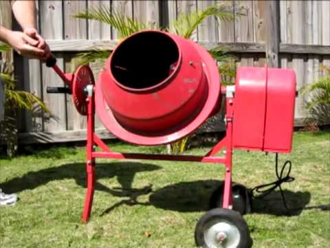 1 25 Cubic Foot Central Machinery Cement Mixer  Model 91907