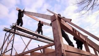 Timberframe Barn Raising