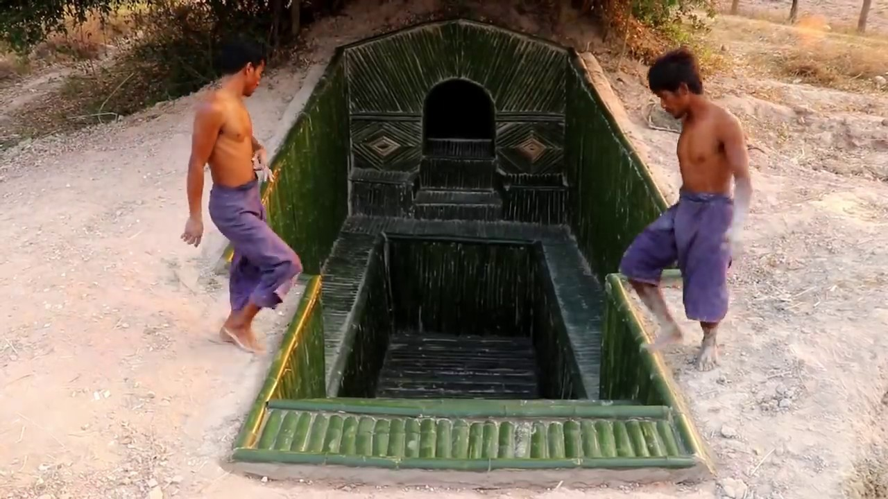Build Mini Swimming Pool In front The Underground Secret House
