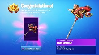 Unlocking New Swag Smasher Pickaxe I Fortnite