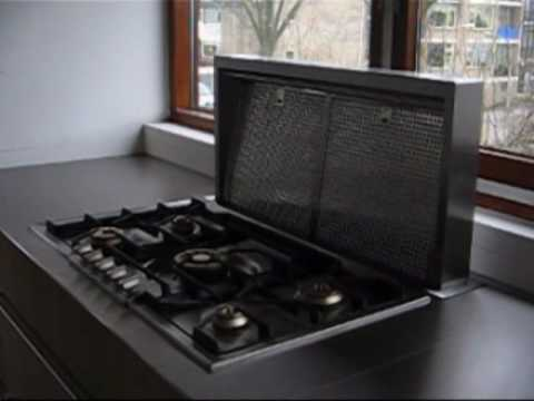 homeier downdraft afzuigkap / cooker hood - youtube