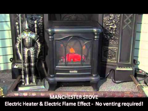 Manchester Electric Stove Victorian Fireplace Shop YouTube