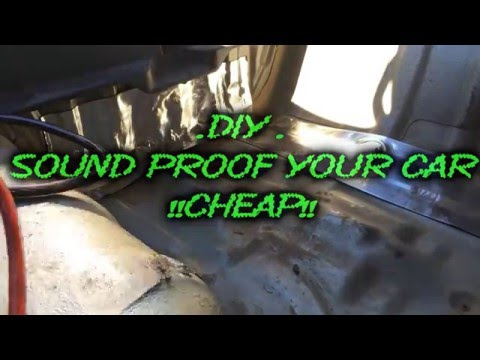 Diy sound proof your car for cheap youtube for How to sound proof your bedroom