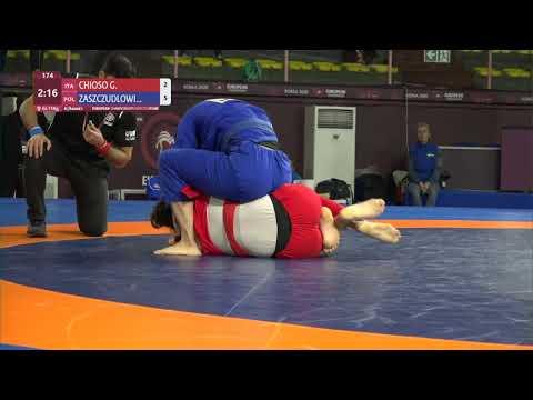 Round 1 Women's GP GI - +71 kg: G. CHIOSO (ITA) v. M. ZASZCZUDLOWI (POL)