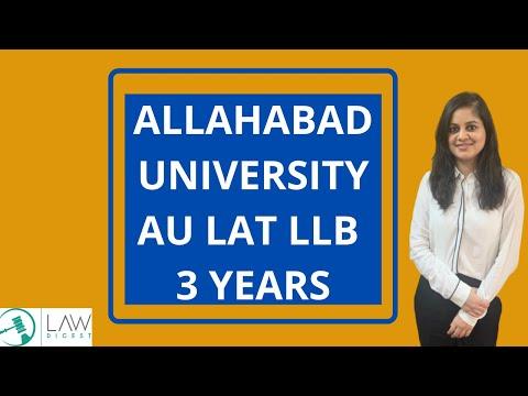 ALLAHABAD UNIVERSITY 3 YEAR LLB | AU LAT 2020