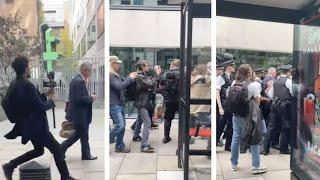 Anti-vaccine protesters ambush Michael Gove in street