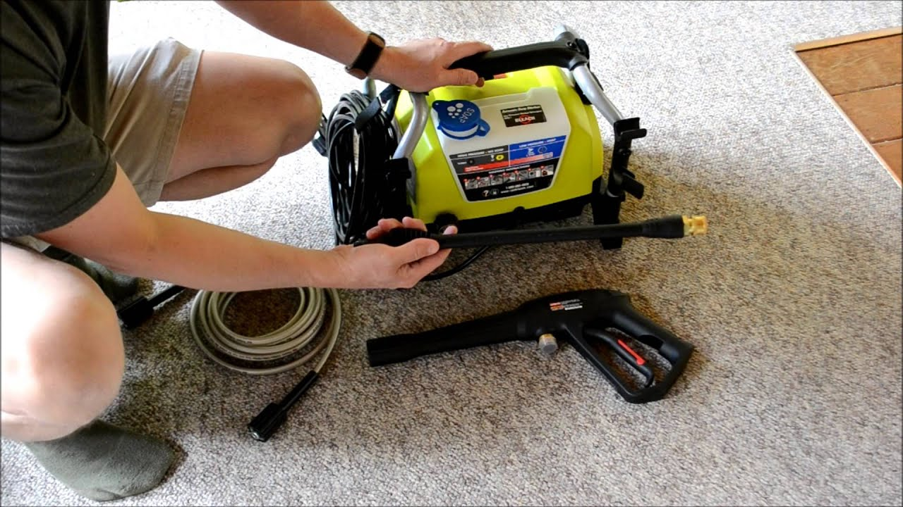 Ryobi 1600 Psi 1 2 Gpm Electric Pressure Washer Youtube