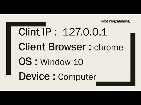 How to get Client Information, IP Address in php