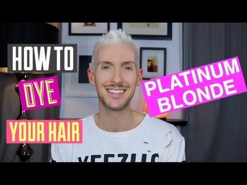 How To Dye Your Hair Blonde At Home White X Platinum X Bleach