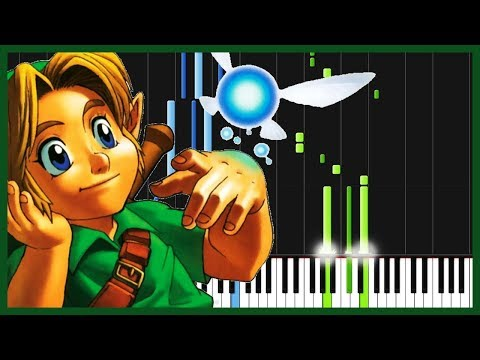 Lost Woods - The Legend of Zelda: Ocarina of Time [Piano Tutorial] (Synthesia) // Anifuse