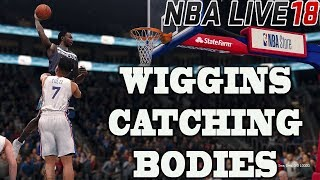 NBA LIVE 18 WIGGINS CATCHING BODIES - TOWNS CANT BE STOPED - NBA LIVE IS BACK!!!!! #KEEPSIMALIVE